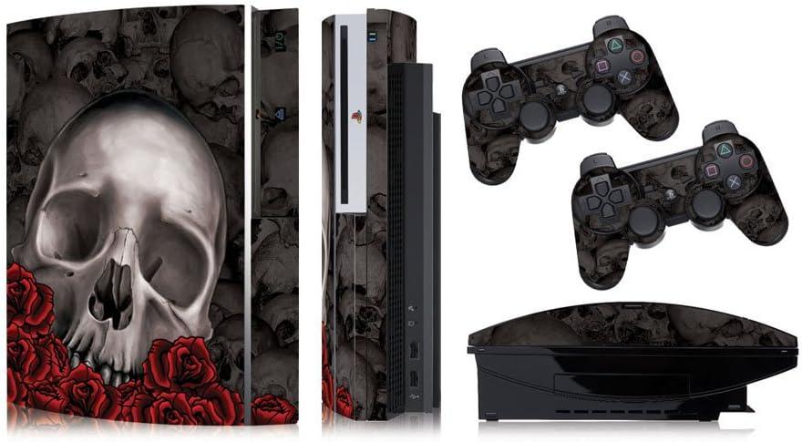 Designer skins for FAT Playstation 3 System Console, PS3 Controller skin included - BONECOLLECTOR BLACK