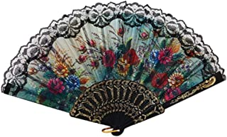 ZJLX Ventilador Plegable de Flores El Ventilador de Mano te trae una Fresca Brisa de Verano