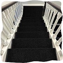 JIAJUAN Thick Stair Carpet Treads Rubber Backing Non-Slip Washable Step Mat, 7 Colors, 5 Sizes, Customize (Color : F-1 pcs...
