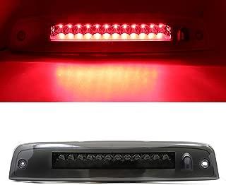 Third 3rd Brake CHMSL Center High Mount Stop/Brake Light Lamp Replacement for 2002-2010 Ford Explorer/Mercury Mariner (Black Housing Smoke LEDs)