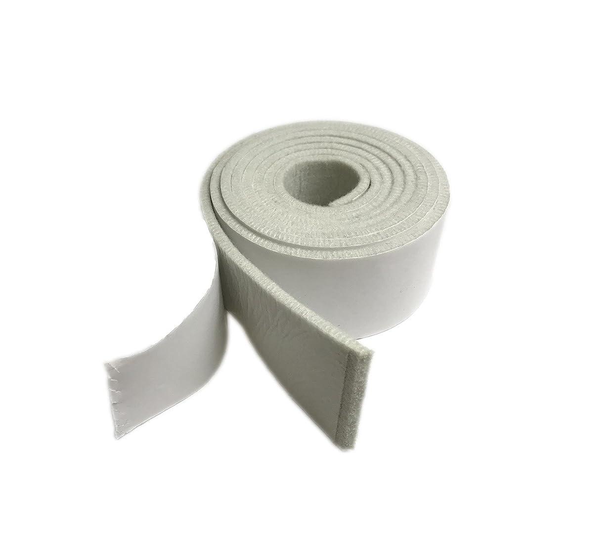 文字フルーツ野菜最大限【MOLO】床のキズ防止テープ 家具保護パッド 防音 自由にカットして 粘着付き 幅5cm 長200cm 厚さ4mm (白い)