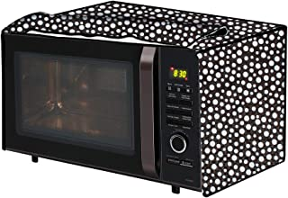 The Furnishing Tree Microwave Oven Cover for Samsung 21 L Convection CE73JD-B/XTL Polka dot Pattern Black