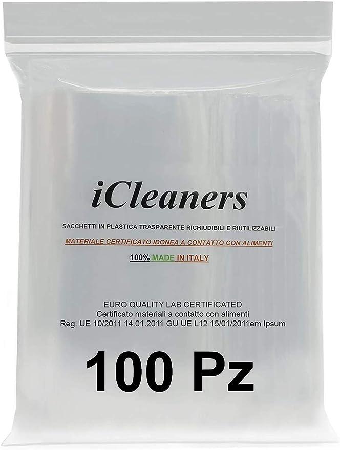 73 opinioni per iCleaners 100 Buste in plastica Trasparente Prodotte in Italia Bustine per