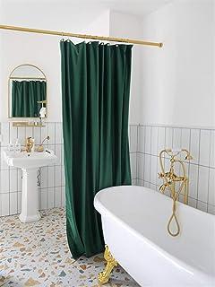 Engrosamiento de Terciopelo Doble Cortina de Ducha, Gratuito Perforada Impermeable Tarp, Cortina Caliente, Cortina de baño...