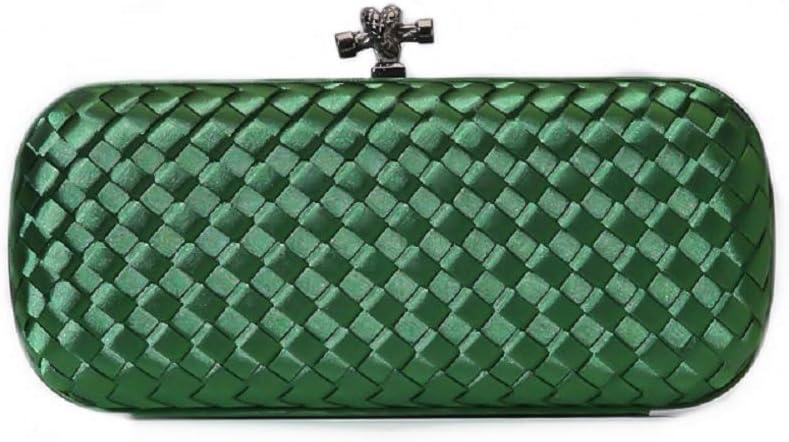 Aiello's Story Women Simplicity Weave Plaid Design Handbag Evening Bag Wedding Party Clutch Purse