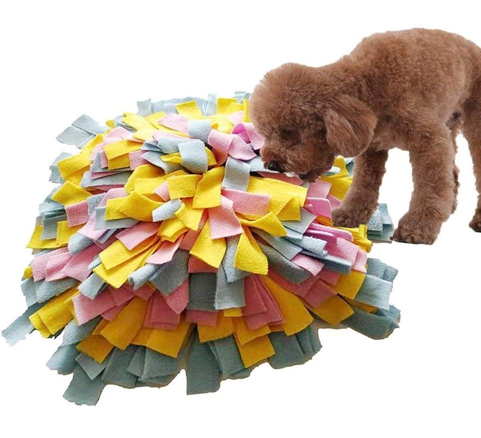 アンデス山脈レジ浸した犬のスナッフルマットペットトレーニングフィーディングパッドスニッフィングパッド犬の採餌スキルブランケット犬のプレイマットパズルおもちゃ洗浄可能