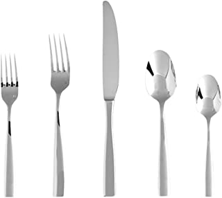 Fortessa Lucca 18/10 Stainless Steel Flatware, 20 Piece Place Setting, Service for 4