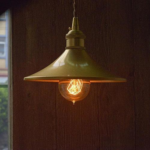 ANDE Laiton Lampe Suspension Circulaire La Créativité éclairage E27 Edison Ampoule Chambre Salon Taille 19  24 Cm