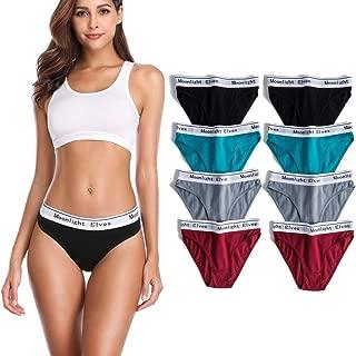 Womens Underwear Cotton Stretch Bikini Panties Hipster Briefs Comfort Panty Pack 4/6/8