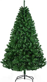 Incbruce Premium Spruce Artificial Christmas Tree with Stable Stand Base, Easy Assembly Outdoor Indoor 6.9ft Unlit Xmas Holiday Decoration Tree (Green, 1000Tips)
