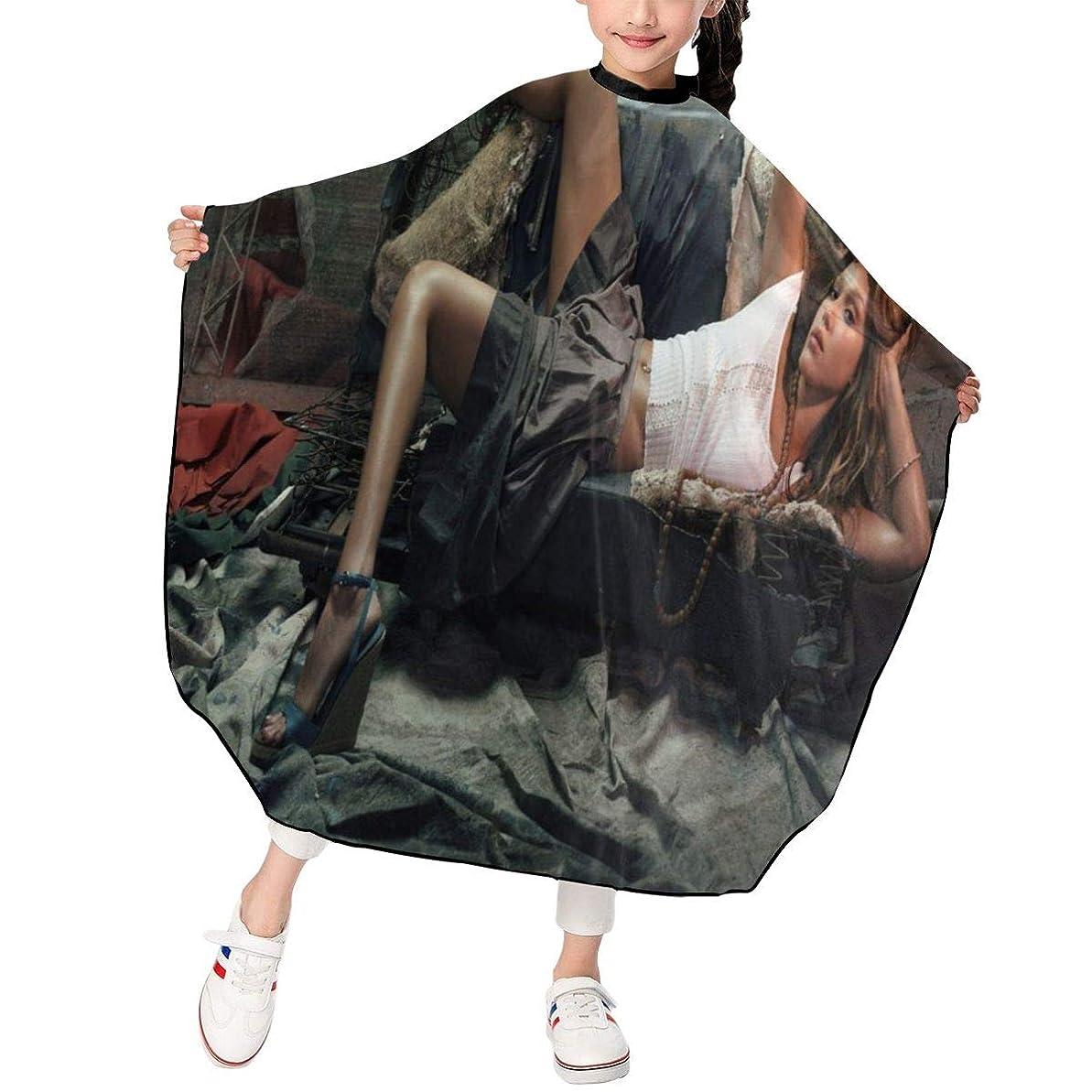 加速度作曲する動揺させる最新の人気ヘアカットエプロン 子供用ヘアカットエプロン120×100cm Jessica Alba 柔らかく、軽量で、繊細なポリエステル生地、肌にやさしい、ドライ