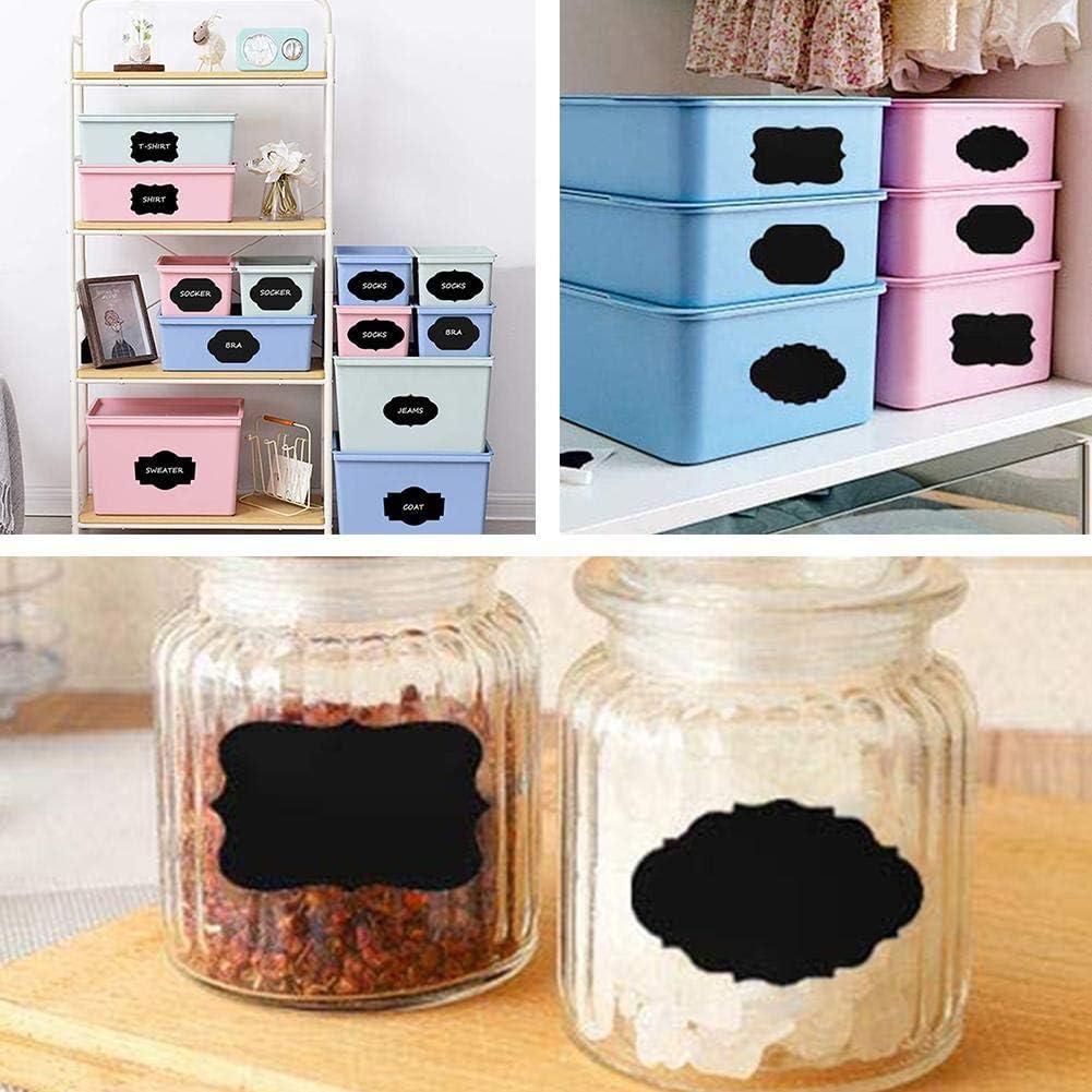 Pour d/écorer des pots Imperm/éables et r/éutilisables Snow Island Lot de 300 /étiquettes autocollantes repositionnables pour cuisine