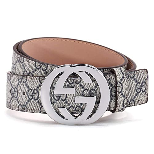 ce3be14b80c Fashion Leather Metal Buckle Unisex Belt Casual Business for Men (GD silver -blue