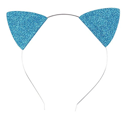 Lovely Children and Baby Glitter Kitten Ears Headband Cat Ears Children  Hair Bands 1dd6c1d7697c