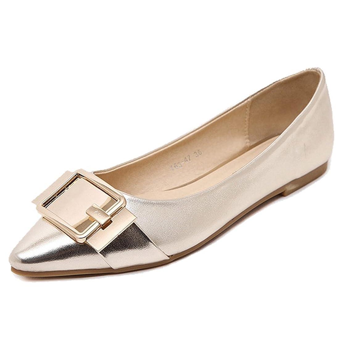 行列尾ご予約[Btrada] レディースPointed Toe Glitter ShinnyバレリーナBallet Flats Slip On