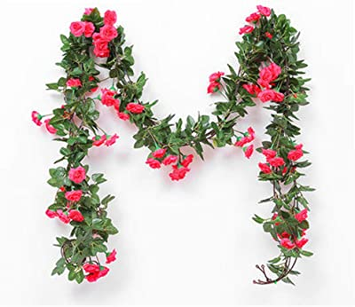 Simulation 33 Roses Rattan Living Room Air Conditioning Duct Indoor Heating Decoration Covering Plastic Fake Flower Vine Artificial Decorations Festive & Party Supplies