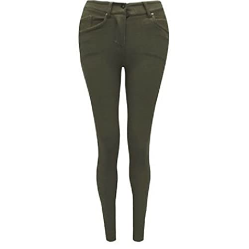 24b528b3652 FASHION OASIS LADIES SKINNY COLOURED ZIP UP JEGGINGS STRETCH TROUSER JEANS  LEGGINGS SIZES 8 10 12