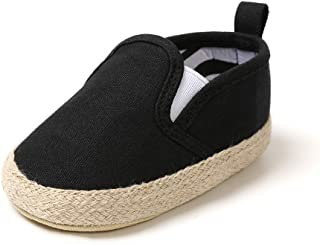 QIETION Newborn Baby Girls Boys Slip ON Loafers Prewalker Crib Shoes Non-Slip First Walker Shoes, Perfect for Baptism/Crawling/Wedding