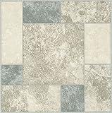 Creative Home: Nexus Vinyl Self Stick Tile: 327 Grey & White Marble: 1...