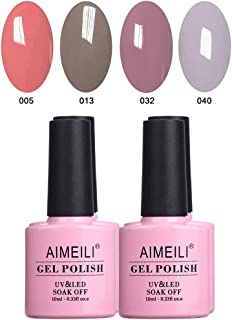 AIMEILI Soak Off UV LED Gel Nail Polish Multicolour/Mix Colour/Combo Colour Set Of 4pcs X 10ml - Kit 18