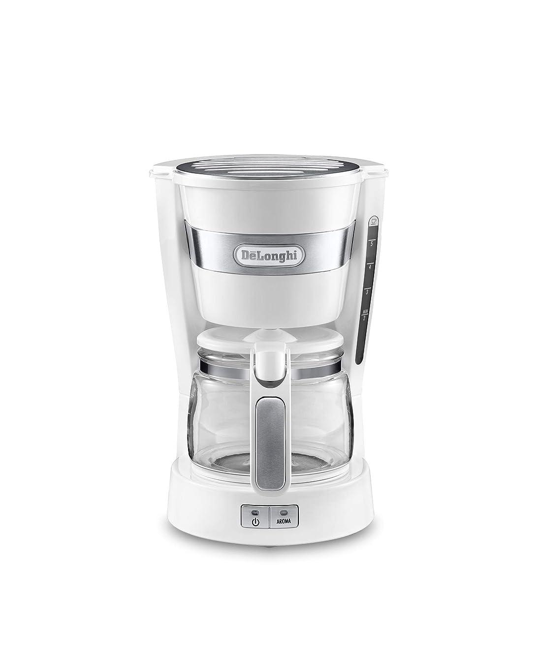 燃やす狂うペイントデロンギ コーヒーメーカー アクティブシリーズ  トゥルーホワイト ICM14011J-W