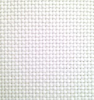 "19"" x 28"" 11CT Counted Cotton Aida Cloth Cross Stitch Fabric (White)"