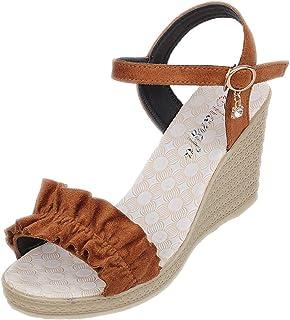 Beautyjourney sandali zeppa donna - sandali estivi donna elegante sandali plateau donna sandali aperti donna mare sandali ...