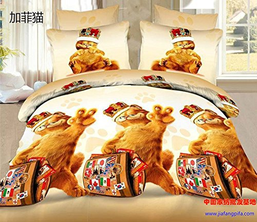 Where To Buy New Beautiful 100 Cotton 4pcs Doona Duvet Cover Set Quilt Sheet Bedding Sets Full Queen King 4pc Animal Garfield Milivoj Zlatandaw