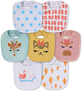 Waterproof Terry cloth Baby bibs with Snaps for newborn girl boy, drool and teething for baby