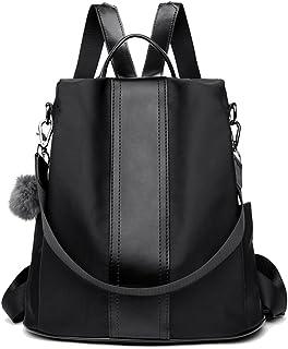 LOSMILE Damen Rucksack Handtaschen Nylon Daypack Umhängetasche Reiserucksack Schulrucksack Backpack Schultertasche PU Lede...