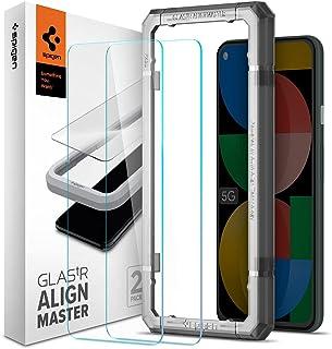 Spigen AlignMaster ガラスフィルム Google Pixel 5a 5G 用 ガイド枠付き Pixel5a 5G 用 保護 フィルム 2枚入