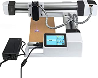 ETE ETMATE USB Off-line Laser Engraving Machine,Mini Desktop Laser Engraver Printer with Carver Size 155x175mm,CNC Laser Engraving Printer Marking Machine (3000mW)