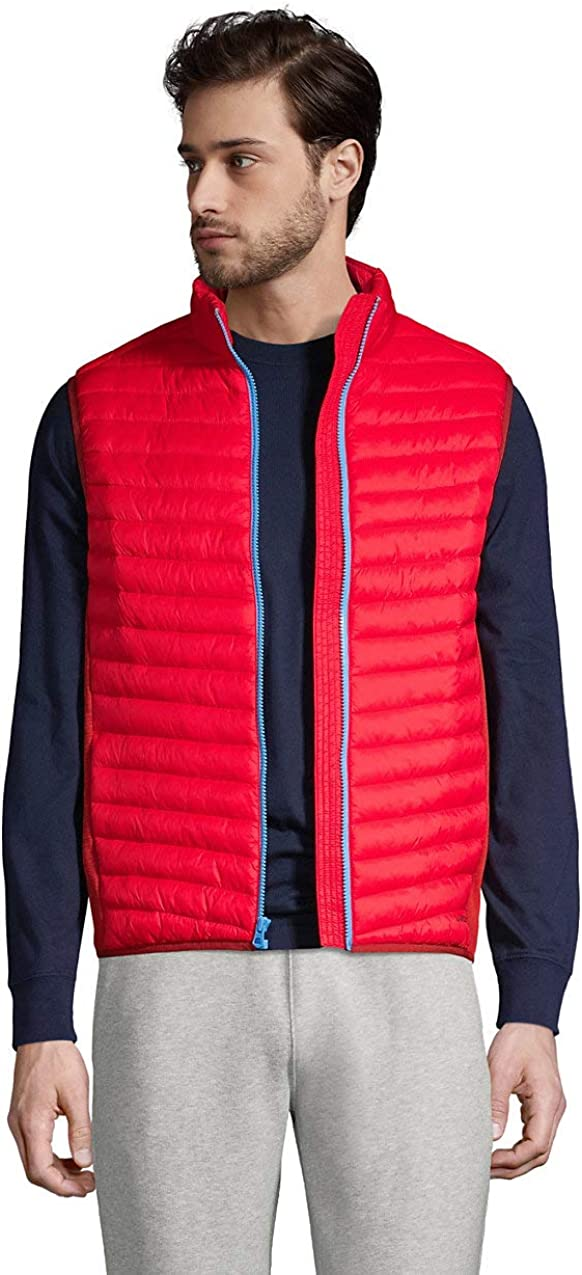 Lands' End Men's Insulated Down Alternative Thermoplume Vest