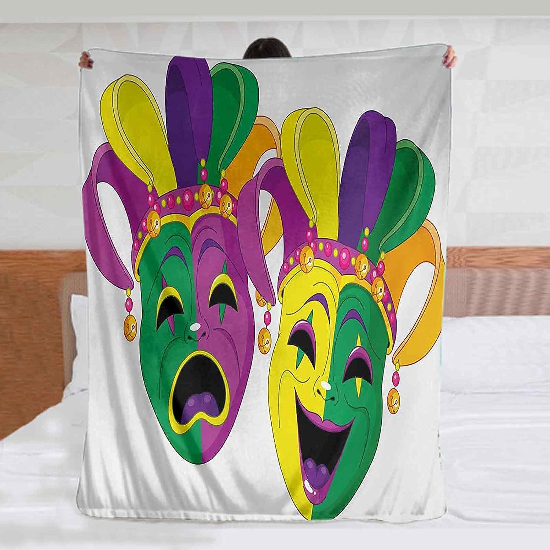 Mardi Gras Soft Fleece Baby Blanket Direct stock discount 60