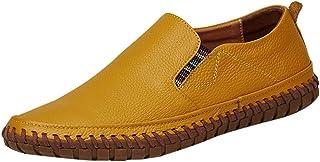 HCFKJ Zapatos Casuales para Hombre, de Moda, de Verano, para Trabajo, de Gran tamaño, de Piel de Negocios, Antideslizantes, cómodos de Conducir