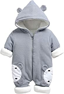 Ceguimos Baby Neugeborene Winterjacke Schneeanzug Overall mit Kapuze