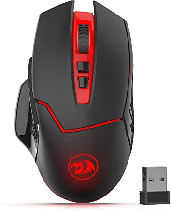 Redargon M690-1 Wireless Gaming Mouse with DPI Shifting, 2 Side Buttons, 2400