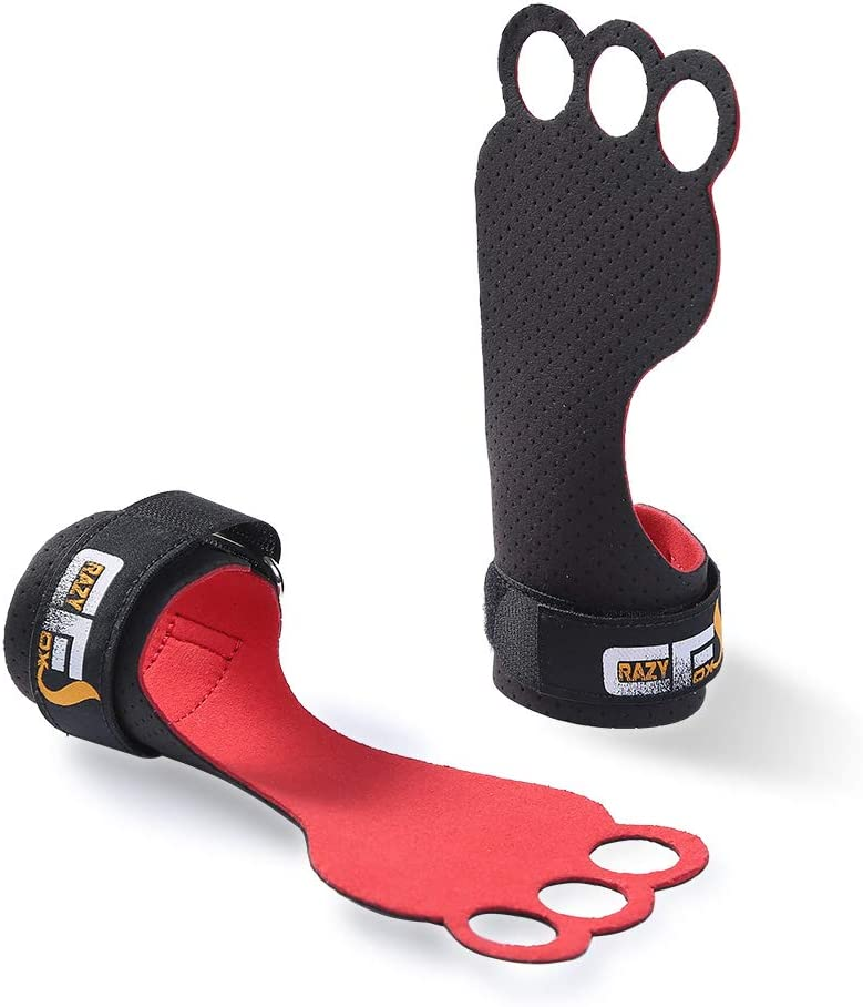 CrazyFoxs Ergonomic Gymnastics Grips Safety and trust Max 86% OFF Made Str Soft Microfiber of