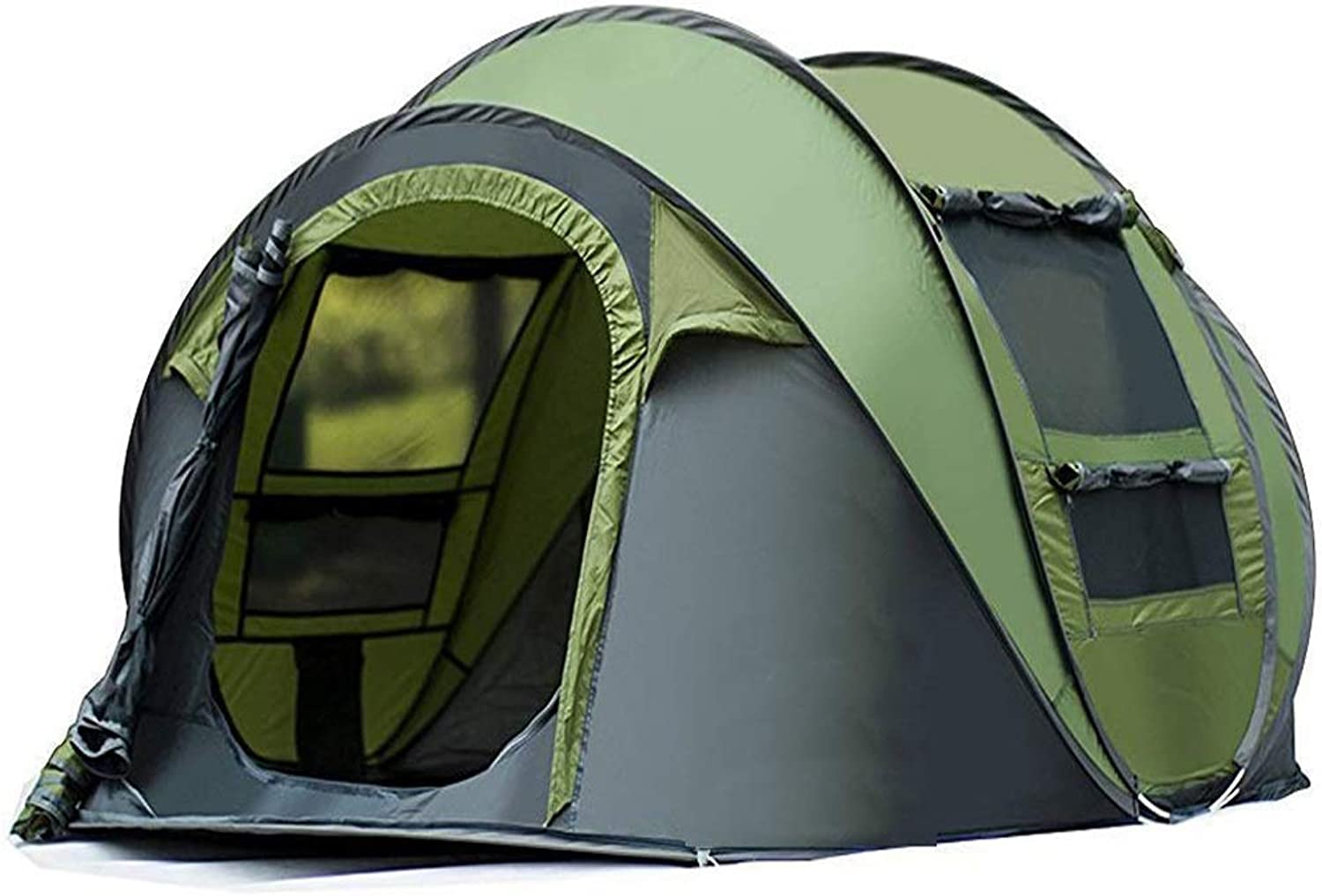 Youxd Camping Tent, 34 People Portable Fast Open Heat Resistant Outdoor Travel Beach Hiking Camping Outdoor Equipment (color   Green)
