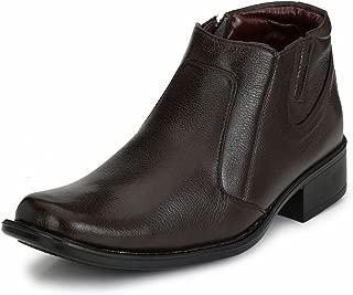 Mactree Men's Mid Top Zipper Formal Shoes 45210