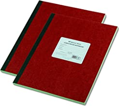 National Brand Computation Notebook, 4 X 4 Quad, Brown, Green Paper, 11.75 x 9.25 Inches, 75 Sheets (43648), 2 Pack