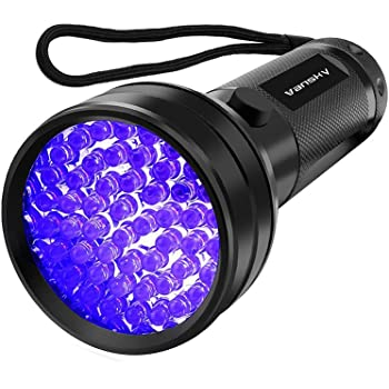 Vansky Flashlight Black Light 51 LED Blacklight Detector for Dog/Cat Urine,Dry Stains,Bed Bug, Matching with Pet Odor Eliminatornator, Eliminator, uv-2