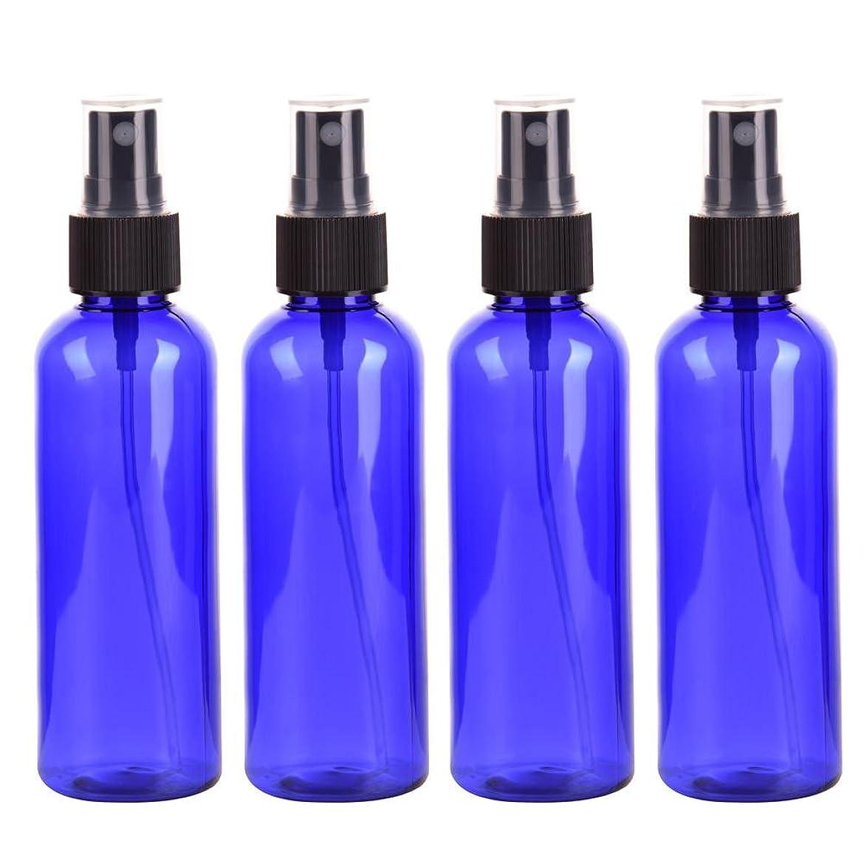 ファントム経済保険【Cheng-store】100mlスプレーボトル 微細ミストプラスチックボトル 化粧液容器 化粧品サブボトルサンプルボトル(4pcs)