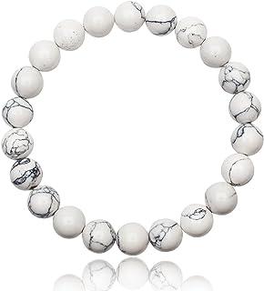 Unique bracelet Perles unisex Malachite 8mm Grade AAA extensible one size fits all 16cm /à 19cm