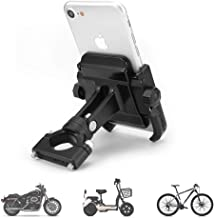 Motorcycle Phone Mount, Adjustable Anti Shake Metal Bike Phone Holder for iPhone X/8/7/6 Plus Samsung Galaxy S9/S8/S7/S6 GPS, Holds Devices up to 3.7