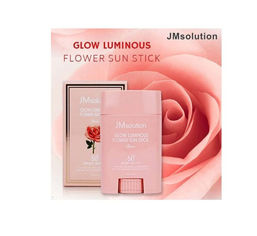 ミリメーター暴力ひばりJM Solution Glow Luminous Flower Sun Stick Rose 21g (spf50 PA) 光る輝く花Sun Stick Rose