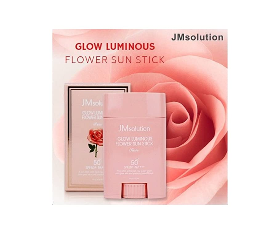 外科医連帯仲人JM Solution Glow Luminous Flower Sun Stick Rose 21g (spf50 PA) 光る輝く花Sun Stick Rose