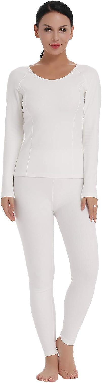 Amorbella Womens Cotton Thermal Underwear Long Johns Base Layer Set