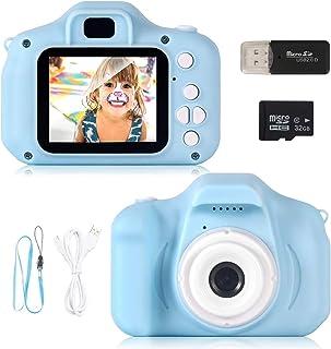 ZStarlite Cámara Digital para Niños 1080P 2.0 HD Selfie Video Cámara Infantil Regalos Ideales para Niños Niñas de 3-10 Años con Tarjeta TF 32 GB Lector de Tarjetas (Azul)