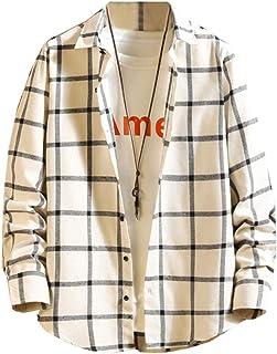 [スカイシイ] 7カラー シャツ チェック柄シャツ 長袖 カジュアル シンプル ギンガムチェック S~3XL